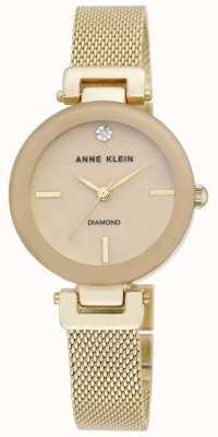 Anne Klein | mujer amelia | Reloj pulsera de malla dorada | AK-N2472TMGB
