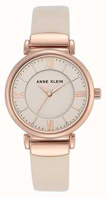Anne Klein | mujer zoey | correa de cuero rosa dorado reloj | AK-N2666RGIV