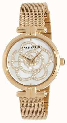 Anne Klein | reloj de flores para mujer | tono dorado | AK-N3102MPGB