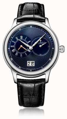 Dreyfuss Reloj de cuero negro con cronógrafo de cuarzo para hombre. DGS00120/05