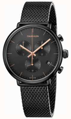 Calvin Klein | Mens High Noon Black acero inoxidable | cronógrafo | K8M27421