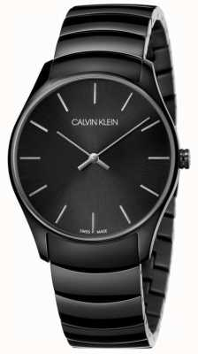 Calvin Klein | mens classic mediano | correa de acero inoxidable negro | K4D21441