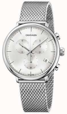 Calvin Klein | correa de acero inoxidable para hombre al mediodía esfera plateada | K8M27126
