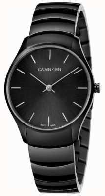 Calvin Klein | clásico también ver | pulsera de acero inoxidable negro | K4D22441