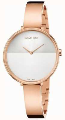 Calvin Klein | extensión de la subida de las mujeres | pulsera de oro rosa | dial de dos tonos K7A23646