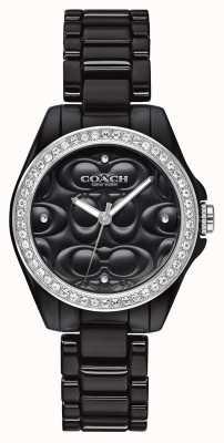 Coach El | reloj deportivo moderno | cara negra | correa negra | 14503255