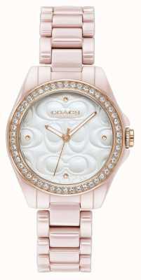 Coach | reloj deportivo para mujer moderno | rosa con cara blanca | 14503256