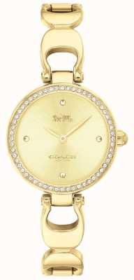 Coach | reloj parque mujer | correa de oro cara de oro | 14503171