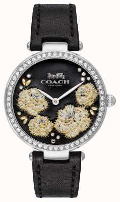 Coach | reloj parque mujer | correa de cuero negro esfera negra 14503283