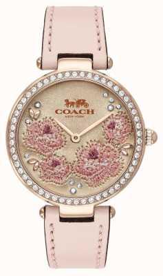 Coach | reloj parque mujer | correa de cuero rosa | 14503285