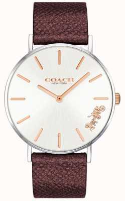 Coach | reloj perry para mujer | correa de cuero rojo | 14503154