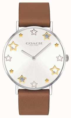 Coach | reloj perry para mujer | correa de cuero marron | 14503242