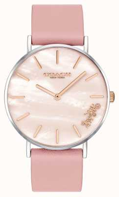 Coach | reloj perry para mujer | correa de cuero rosa | 14503244