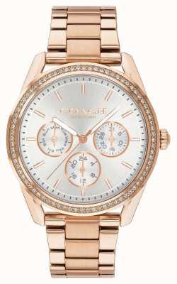 Coach | reloj preston | Cronógrafo de oro rosa de acero inoxidable | 14503267