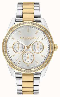 Coach | reloj preston | Cronografo dos tonos plata y oro. 14503268