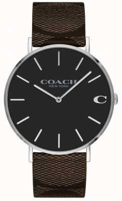 Coach | reloj charles para hombre | correa de cuero marron | 14602156