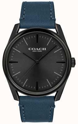 Coach | reloj de lujo moderno para hombre | correa de cuero azul | 14602399