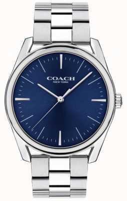 Coach | reloj de lujo moderno para hombre | esfera azul acero inoxidable | 14602401