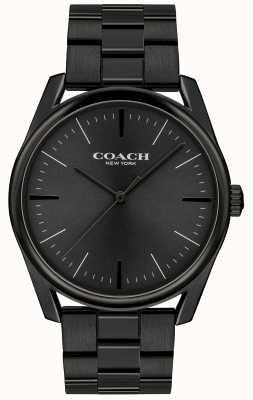 Coach Hombre moderno de lujo negro acero inoxidable. 14602403