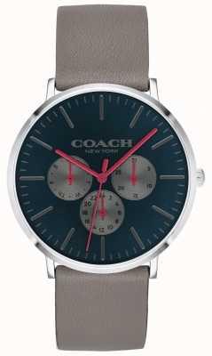 Coach | reloj varick para hombre | cronógrafo correa beige beige esfera | 14602390