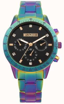 Missguided | reloj de señoras | acero inoxidable multicolor | MG004UPM