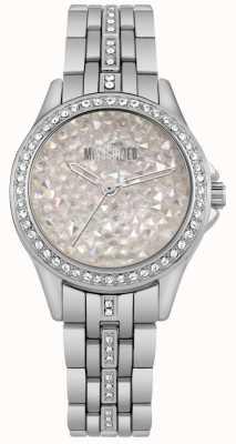 Missguided | reloj de acero inoxidable para mujer | esfera de piedra plateada | MG013SM