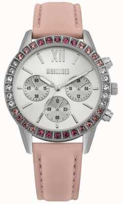 Missguided | reloj de señoras | correa de cuero rosa | MG015P