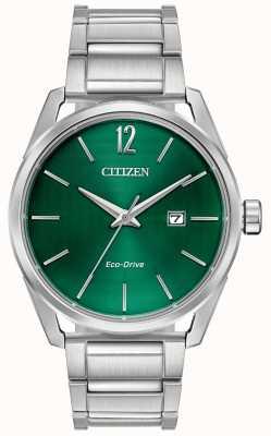 Citizen Pulsera de hombre eco-drive metal esfera verde BM7410-51X