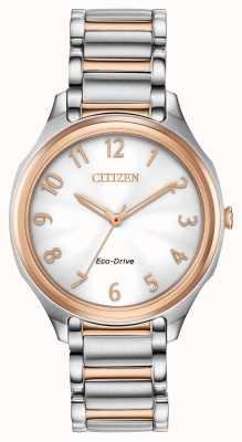 Citizen Pulsera de mujer eco-drive bicolor de metal. EM0756-53A