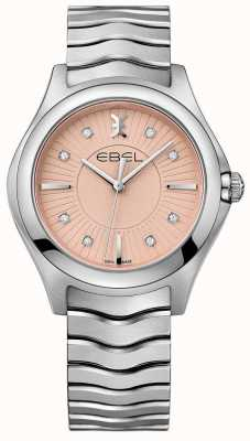 EBEL Pulsera onda acero inoxidable esfera rosa. 1216303