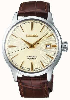 Seiko El | hombres | presagio | automático | correa de cuero marrón | SRPC99J1