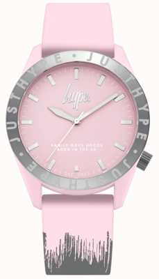Hype | correa de silicona rosa / gris para mujer | esfera rosa | HYL008PS