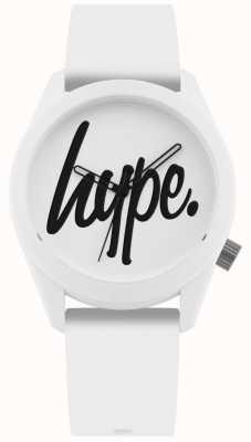Hype | correa de silicona blanca | esfera blanca y negra | HYU001W