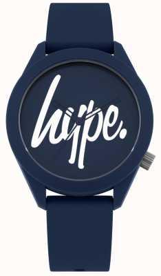 Hype | correa de silicona azul para hombre | esfera azul y blanca | HYG001U