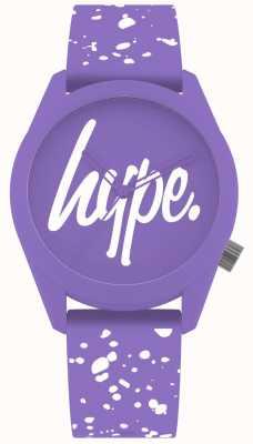 Hype | correa de silicona morada y blanca para mujer | esfera morada | HYL001VW