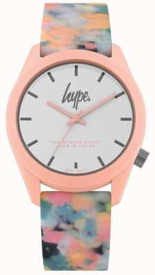 Hype | correa de silicona rosa multicolor | esfera blanca | HYU009PU