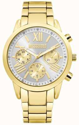 Missguided | reloj cronógrafo de oro para mujer | MG008GM
