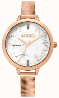 Missguided | reloj de malla de oro rosa para mujer | MG011RGM