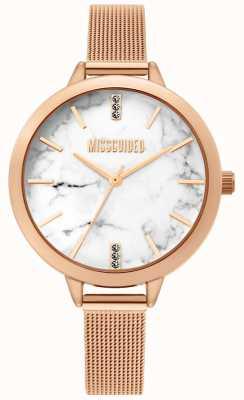 Missguided El | reloj de malla de oro rosa para mujer | MG011RGM