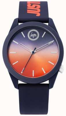 Hype | reloj de silicona azul para hombre | dial de dos tonos | HYU020UO