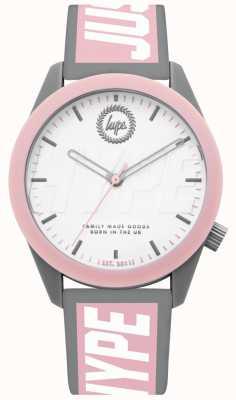 Hype | reloj de señoras | correa de silicona gris y rosa | HYL018PW