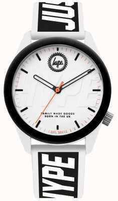 Hype | reloj para hombre | Correa de silicona blanca y negra | HYU018BW