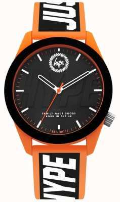 Hype | reloj para hombre | Correa de silicona naranja y negra | HYG018BO