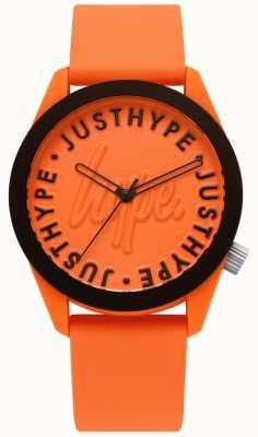 Hype | reloj para hombre | correa de silicona naranja | esfera naranja | HYU023O