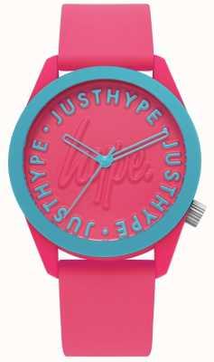 Hype | reloj de señoras | correa de silicona rosa brillante | HYL023P