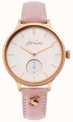 Joules | correa de piel rosa para mujer | caja de oro rosa | JSL014PRG