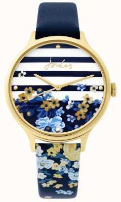 Joules | reloj de señoras | correa de estampado floral azul marino | JSL015UG