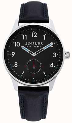 Joules | reloj de la grada de los hombres | correa de cuero negro | JSG008B
