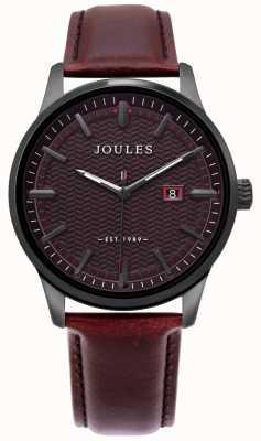 Joules | reloj marfield para hombre | correa de cuero marron | esfera marrón | JSG009BRB