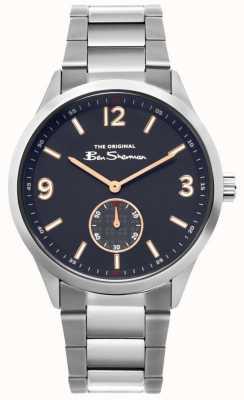 Ben Sherman | reloj de acero inoxidable para hombre | esfera azul | BS020SM